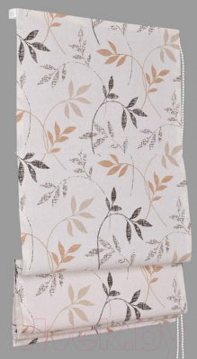 Римская штора Delfa Мини Flora СШД-01М-166/036 (57x160, бежевый/коричневый)