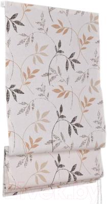 Римская штора Delfa Мини Flora СШД-01М-166/036 (68x160, бежевый/коричневый)