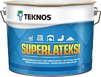 Краска Teknos Superlateksi Base 3 (9л, матовый прозрачный) -