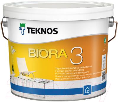 Краска Teknos Biora 3 (900мл, матовый белый)