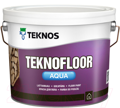 Краска Teknos Teknofloor Aqua Base 1 (2.7л, белый)