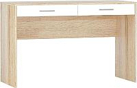 Письменный стол Империал Стелс 120 2ящ (дуб сонома/белый) -