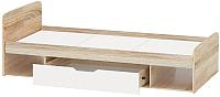 Односпальная кровать Империал Стелс 90 (дуб сонома/белый) -