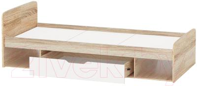 Односпальная кровать Империал Стелс 90 (дуб сонома/белый)