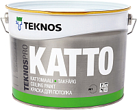 Краска Teknos Teknospro Katto Tak Valkoinen (9л, белая) -