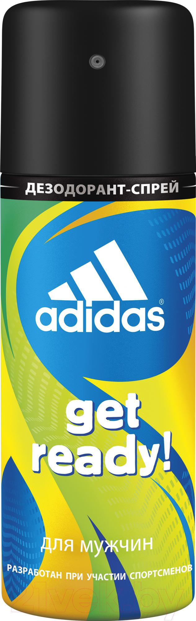 Купить Дезодорант-спрей Adidas, Cool & Care Get Ready! 48ч (150мл), Испания