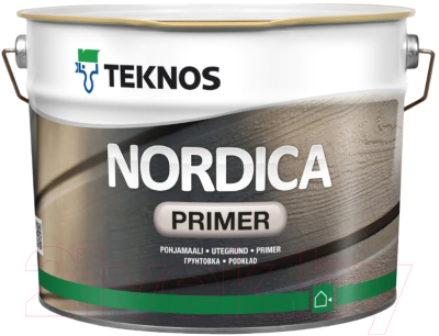 Грунт-краска Teknos Nordica Primer Valk (9л, белый)
