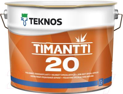 Краска Teknos Timantti 20 PM1 (2.7л, полуматовый белый)