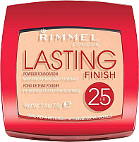 Пудра компактная Rimmel Lasting Finish 25H Powder Foundation 004 - Light Honey (7г) -