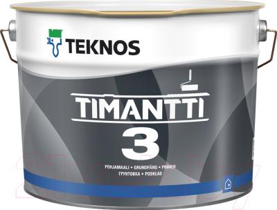 Краска Teknos Timantti 3 Valkoinen (2.7л, белый)