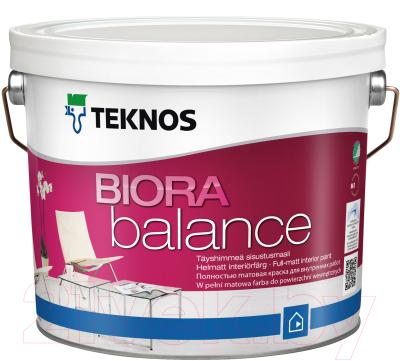 Краска Teknos Biora Balance Base 3 (9л, прозрачный)