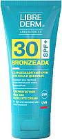 Крем солнцезащитный Librederm Bronzeada для лица и зоны декольте SPF30 (50мл) -