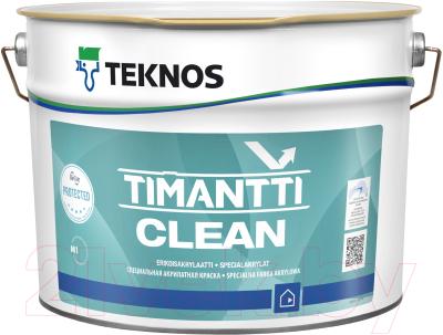 Краска Teknos Timantti Clean PM B1 (9л)