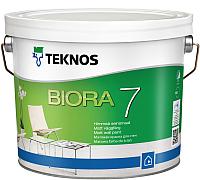 Краска Teknos Biora 7 Base 1 (9л, белый) -