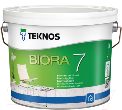 Краска Teknos Biora 7 Base 3 (900мл, прозрачный)