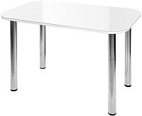 Обеденный стол Алмаз-Люкс СО-Д-02-1 (белый) -