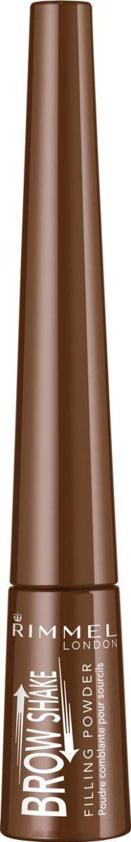 Купить Тени для бровей Rimmel, Brow Shake Filling Powder тон 002 (0.7г), Германия, брюнет/шатен (коричневый)