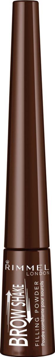 Купить Тени для бровей Rimmel, Brow Shake Filling Powder тон 003 (0.7г), Германия, брюнет/шатен (коричневый)