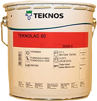Краска Teknos Teknolac 50 B4 (2.7л) -