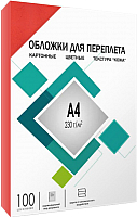 Обложки для переплета Гелеос А4 под кожу / CCA4R (красный) -