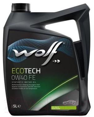 Моторное масло WOLF EcoTech 0W40 FE / 16106/5 (5л)