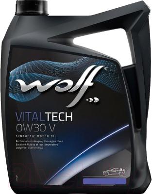 Моторное масло WOLF VitalTech 0W30 V / 22105/5 (5л)
