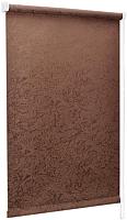 Рулонная штора Delfa Сантайм Жаккард Венеция СРШ-01 МД 29513 (95x170, шоколад) -