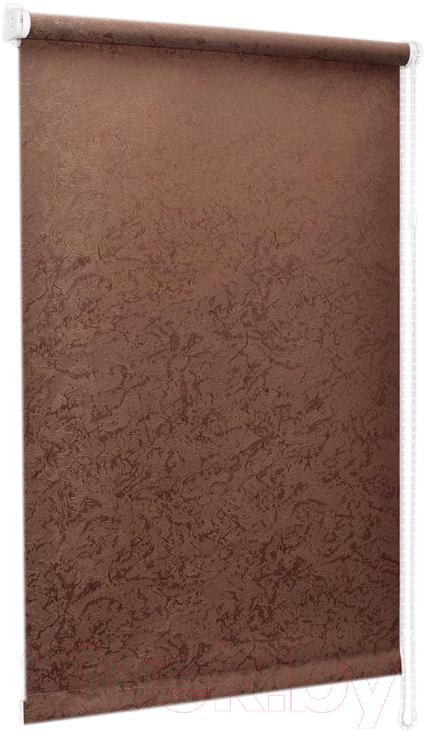 Купить Рулонная штора Delfa, Сантайм Жаккард Венеция СРШ-01 МД29513 (52x170, шоколад), Беларусь, ткань