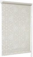 Рулонная штора Delfa Сантайм Металлик Принт СРШ-01 МД 7591 (48x170, кремовый) -
