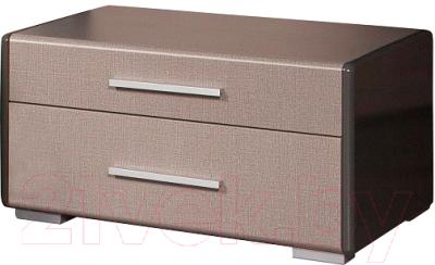 Прикроватная тумба Мебель-КМК Стефани 2Я 0648.2 (серый глянец/холст серый)
