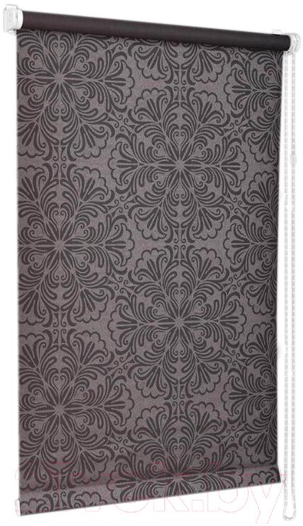 Купить Рулонная штора Delfa, Сантайм Металлик Принт СРШ-01 МД 7592 (81x170, шоколад), Беларусь, ткань