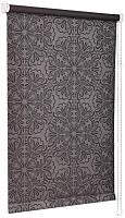 Рулонная штора Delfa Сантайм Металлик Принт СРШ-01 МД 7592 (68x170, шоколад) -