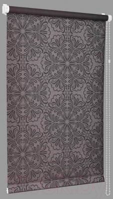Рулонная штора Delfa Сантайм Металлик Принт СРШ-01 МД7592 (68x215, шоколад)