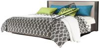 Двуспальная кровать Мебель-КМК 1600 Стефани 0649.4-01 (холст серый/камень темно-серый) -