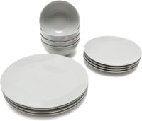 Набор тарелок Keramika Ege (12пр, серый) -