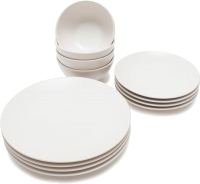 Набор тарелок Keramika Ege (12пр, белый) -