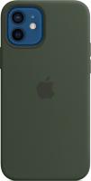 Чехол-накладка Apple Silicone Case with MagSafe для iPhone 12/12 Pro / MHL33 (кипрский зеленый) -