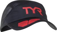 Кепка для триатлона TYR Running Cap / LRUNCAP 001 (черный/красный) -