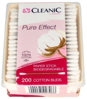 Ватные палочки Cleanic Pure Effect Bio (200шт) -