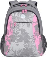 Школьный рюкзак Grizzly RD-142-2 (серый/розовый) -