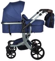 Детская универсальная коляска Aimile New Silver / 608L (синий) -