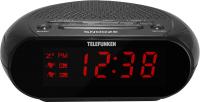 Радиочасы Telefunken TF-1706 (черный/красный) -