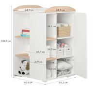 Детская кровать-трансформер Polini Kids French 800 Teddy с комодом (белый/дуб пастельный) -