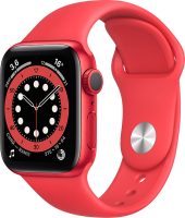 Умные часы Apple Watch Series 6 GPS 44mm / M00M3 (алюминий красный/красный) -