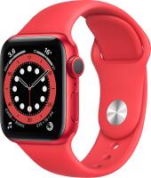 Умные часы Apple Watch Series 6 GPS 40mm / M00A3 (алюминий красный/красный) -