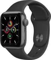 Умные часы Apple Watch SE GPS 40mm / MYDP2 (алюминий серый космос/черный спортивный) -