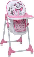 Стульчик для кормления Polini Kids Disney Baby 470. Кошка Мари (розовый) -