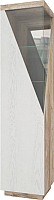 Шкаф-пенал с витриной Мебель-КМК Лайт 0551.6 левый (дуб юккон/дуб полярный) -