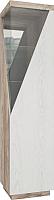 Шкаф-пенал с витриной Мебель-КМК Лайт правый 0551.7 (дуб юккон/дуб полярный) -