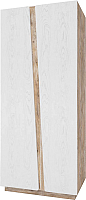 Шкаф Мебель-КМК Лайт 2Д 0551.8 (дуб юккон/дуб полярный) -